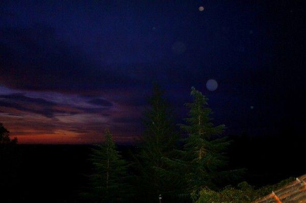 Les Orbs dansent aux premières lueures de l'aurore.